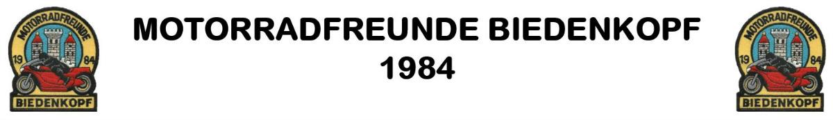 MOTORRADFREUNDE BIEDENKOPF 1984